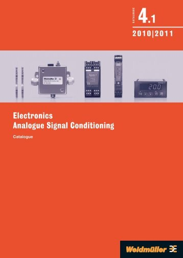 Каталог Weidmuller: Electronics - Analogue Signal Conditioning