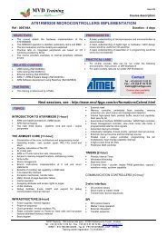 Training AT91RM9200 MICROCONTROLLERS IMPLEMENTATION