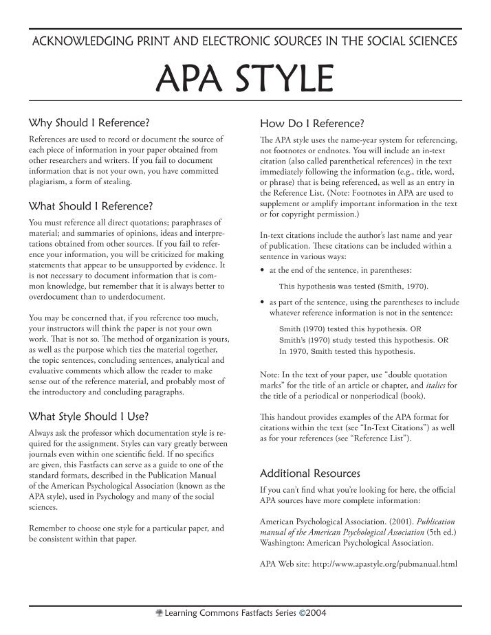 apa formation The authority on apa style and the 6th edition of the apa publication manual find tutorials, the apa style blog, how to format papers in apa style, and other resources to help you improve your writing, master apa style, and learn the conventions of scholarly publishing.