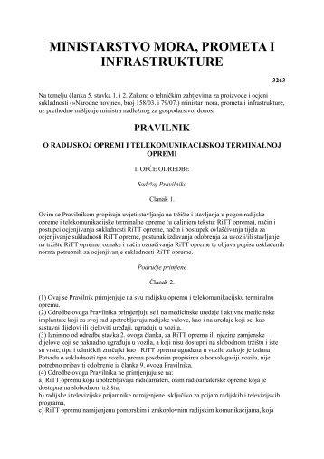 112 1.10.2008 Pravilnik o radijskoj opremi i ... - Hakom