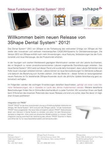 beim neuen Release von 3Shape Dental System ... - imes-icore GmbH