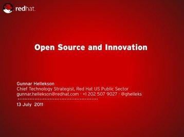 Open Source and Innovation - Mil-OSS