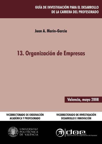 13. Organización de Empresas - Universidad Politécnica de Valencia