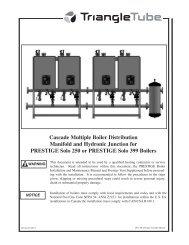 Prestige Trimax Cascade Manual - Triangle Tube