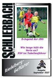 Riedelberg- Geflüster - FSV Schlierbach