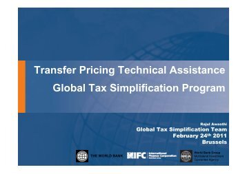 Transfer Pricing Technical Assistance Global Tax Simplification ...