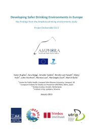 Report on developing safer drinking environments in Europe
