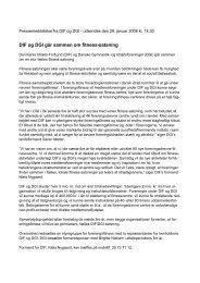 Fælles pressemeddelelse, udsendt af DIF og DGI