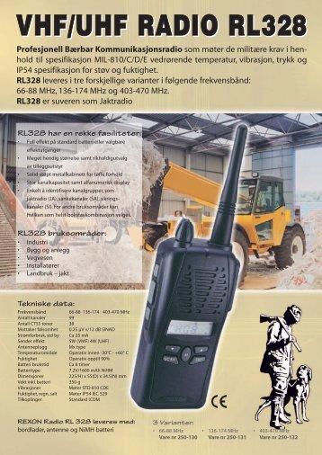 vhf/uhf radio rl328 vhf/uhf radio rl328