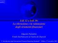 la rilevazione e la valutazione degli strumenti finanziari - Fondo ...
