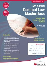 5th Annual Contract Law Masterclass - LexisNexis