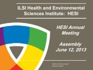 HESI Assembly - ILSI Health and Environmental Sciences Institute