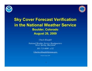 Sky Cover Forecast Verification in the National Weather Service