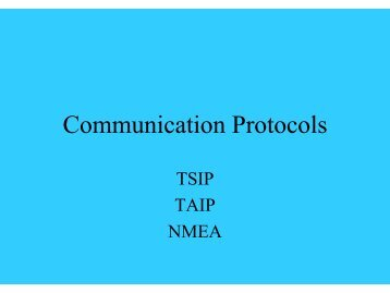 Communication Protocols - All-electronics.de
