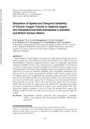 Simulation of Spatial and Temporal Variability of Chronic Copper ...