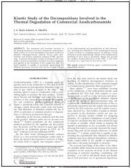 Kinetic Study of the Decompositions Involved in the Thermal ...