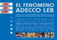 El Fenómeno Adecco LEB - Federacion Española de Baloncesto