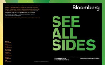 INTROduCING BLOOMBERG FOR INVESTOR RELATIONS