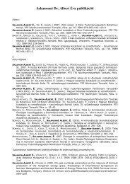 Salamonné Dr. Albert Éva publikációi - TTK - Pécsi Tudományegyetem