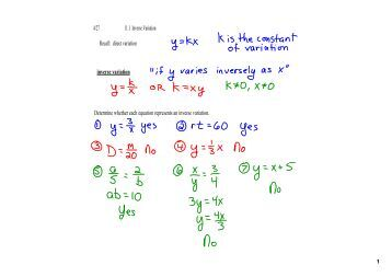 What is inverse variation?