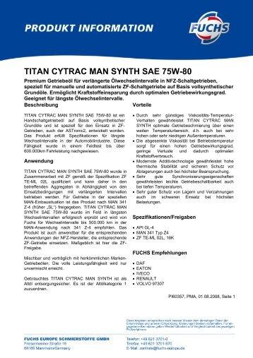 TITAN CYTRAC MAN SYNTH SAE 75W-80 - Korb Schmierstoffe