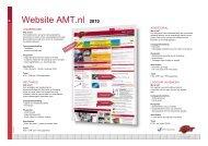 Website AMT.nl 2010 - Adverteren bij Reed Business.nl