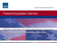 Federal Acquisition Service - The Global Business Travel Association