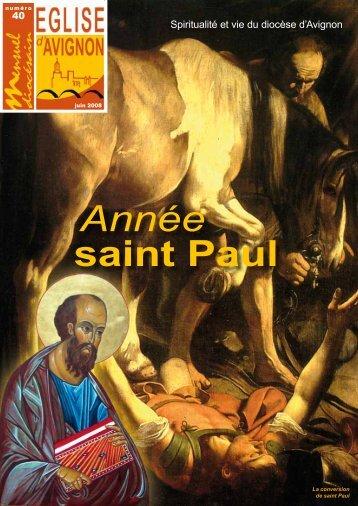 Année saint Paul - Diocèse d'Avignon