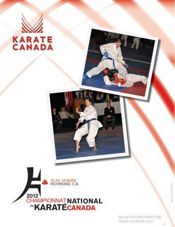 CHAMPIONNAT CANADIEN 2012 DE KARATE CANADA (V.2 — 13 ...