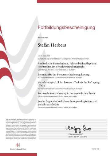 Fortbildungsbescheinigung - Hillmann und Partner