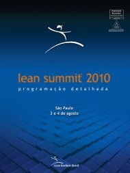 p r o g r a m a ç ã o d e t a l h a d a - Lean Summit 2010