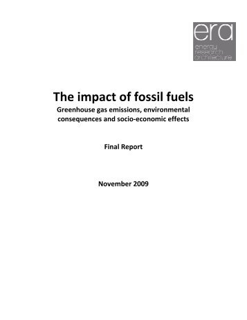 The Impact Of Fossil Fuels - European Biodiesel Board