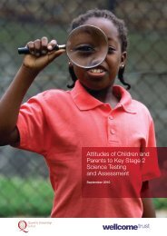 Attitudes of Children and Parents to Key Stage 2 ... - Wellcome Trust
