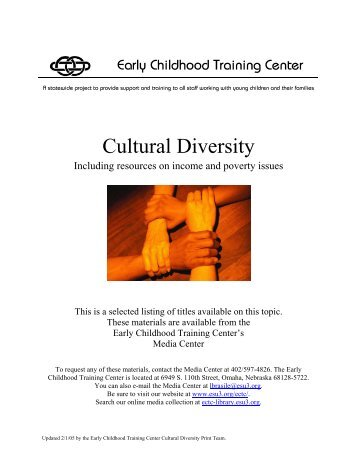 Cultural Diversity - Child Development Resource Connection Peel