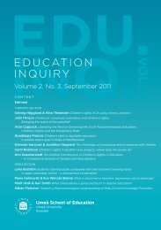 What is discerned in teachers' expressions about ... - Umeå universitet