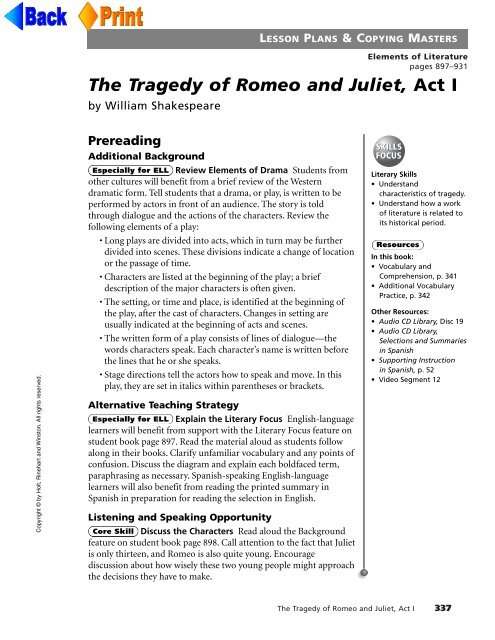 The Tragedy of Romeo and Juliet, Act I - McGavockEnglish1