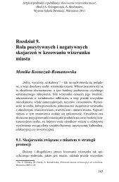 Rozdział 9. Rola pozytywnych i negatywnych skojarzeń w