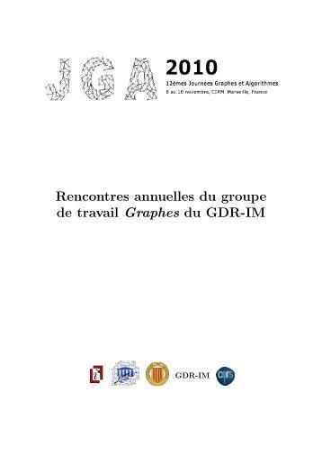 Rencontres annuelles du groupe de travail Graphes du GDR-IM