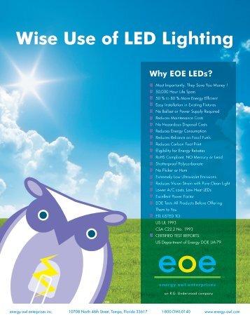 Wise Use of LED Lighting - Energy Owl Enterprises