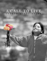 A CALL TO LIVE - World Vision