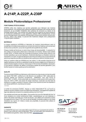 MU 6P 6x10 FR - SAT Solar