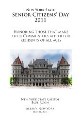 List of county honorees and award recipients - New York State Office ...