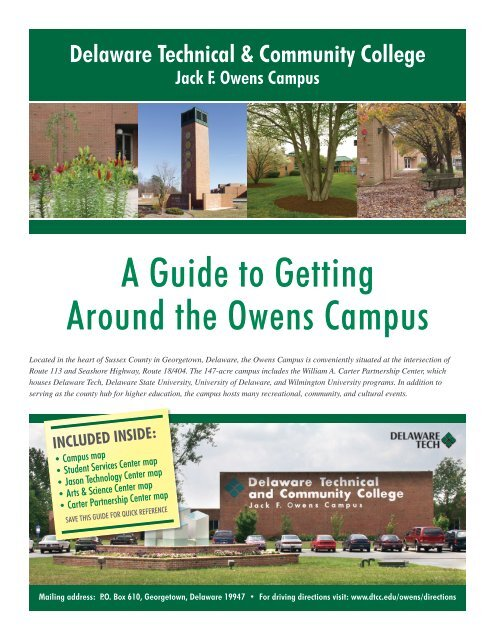 Del Tech Owens Campus Map.Dtcc Owens Campus Map Delaware Department Of Natural