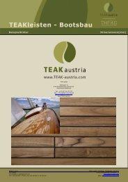 TEAKleisten - Bootsbau - Teak Austria