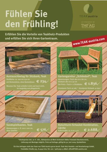 TEAK austria_Frühling-2009