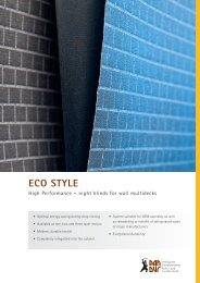 ECO STYLE High Performance – night blinds for wall ... - Pan-Dur