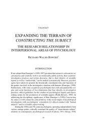 EXPANDING THE TERRAIN OF CONSTRUCTING ... - Kurt Danziger