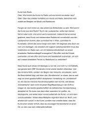 Weitere Infos zum Vortrag (PDF) - Kunstradio