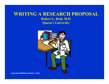 WRITING A RESEARCH PROPOSAL - Queen's University