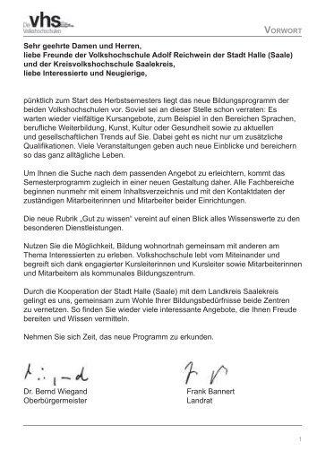 Saale - Kreisvolkshochschule Merseburg-Querfurt